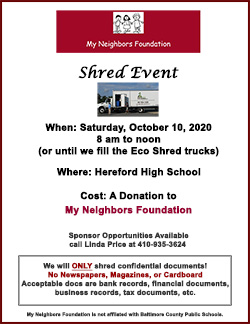 MNF Shred Event October 10 2020